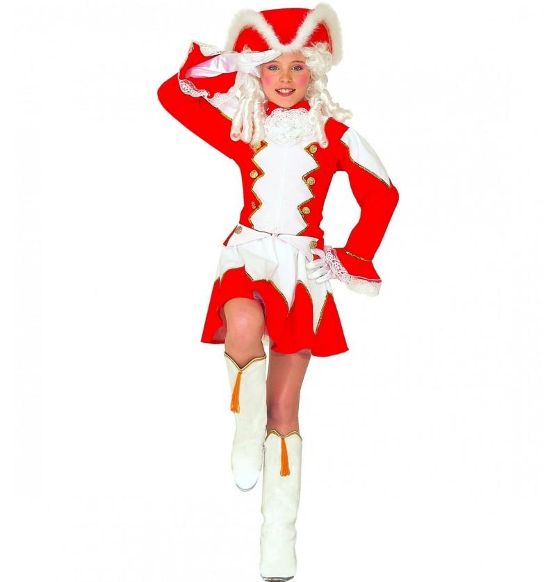 Disfraz de majorette roja para niña