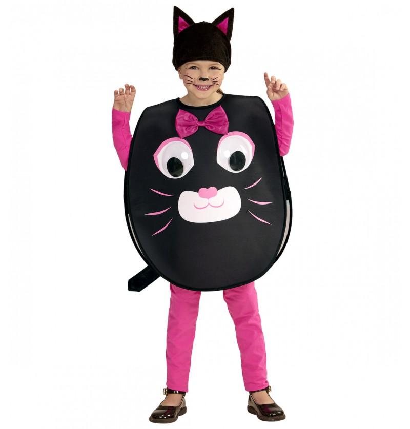Disfraz de gato de ojos saltones infantil