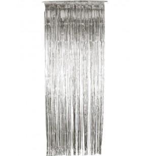 cortina plateada brillante