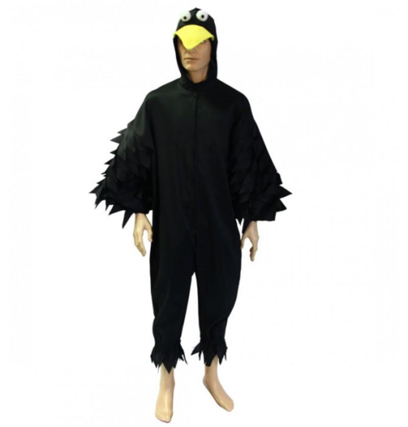 Disfraz de cuervo nocturno para adulto