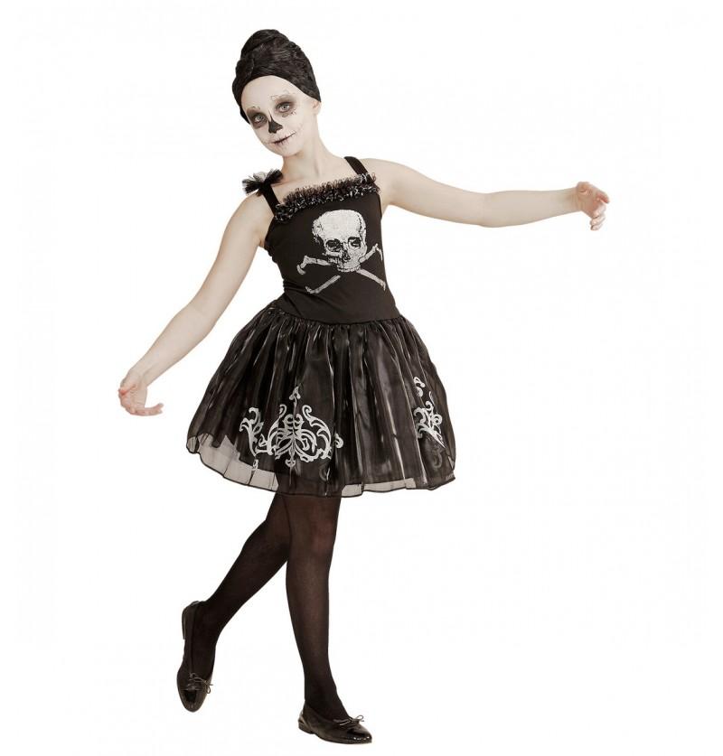 Disfraz de bailarina esquelética para niña
