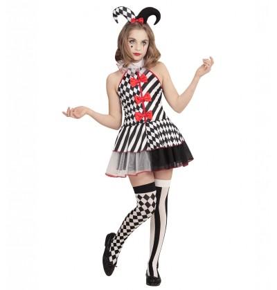 Disfraz de arlequina para niña