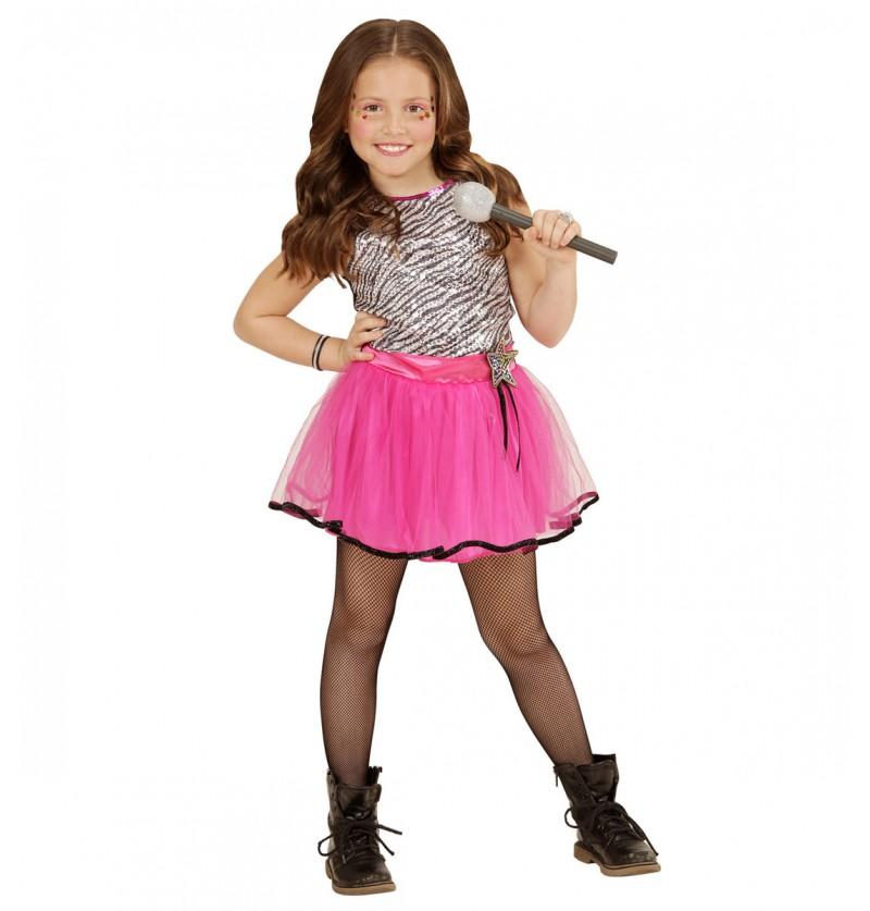 Disfraz de pop star para niña