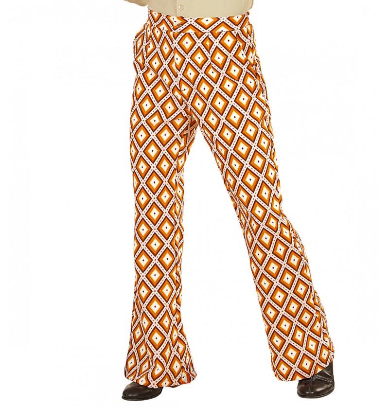 Pantalón retro rombos de los años 70 para hombre