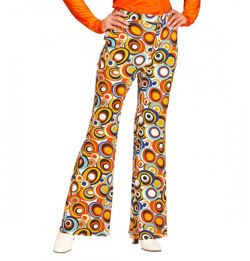 Pantalón retro burbujas de los años 70 para mujer