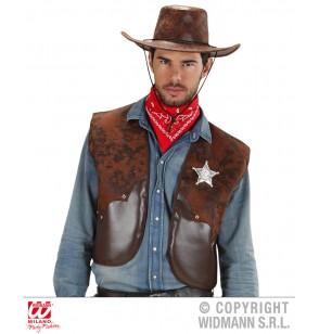 Chaleco vaquero marrón para hombre