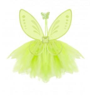 Kit disfraz de hada verde para niña