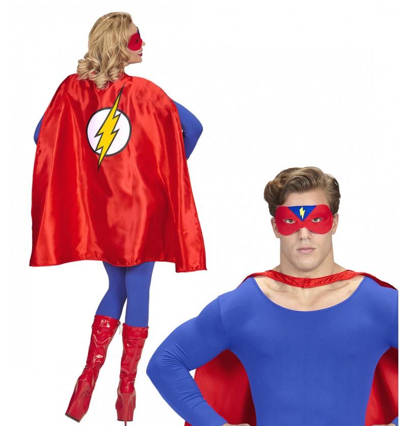 Capa de superhéroe rojo para adulto