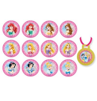 set de 8 globos con varitas de princesas disney