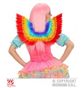 Alas de plumas arcoiris para adulto