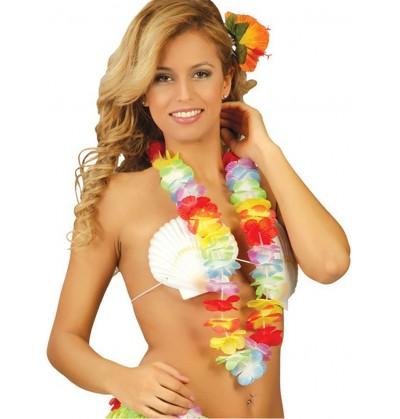 collar hawaiano multicolor de 6 5 cm