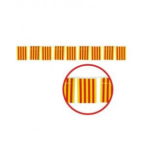 guirnalda 50 m banderas catalanas grandes