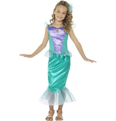 Disfraz de sirena de los mares para niña
