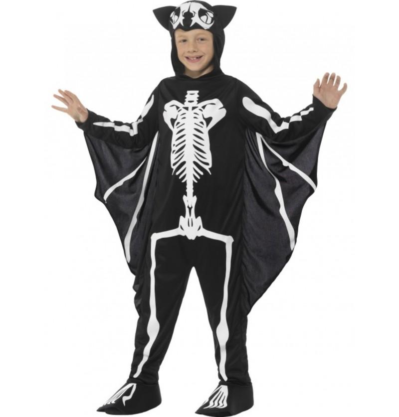 Disfraz de murciélago esqueleto infantil