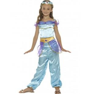 Disfraz de princesa del desierto azul para niña