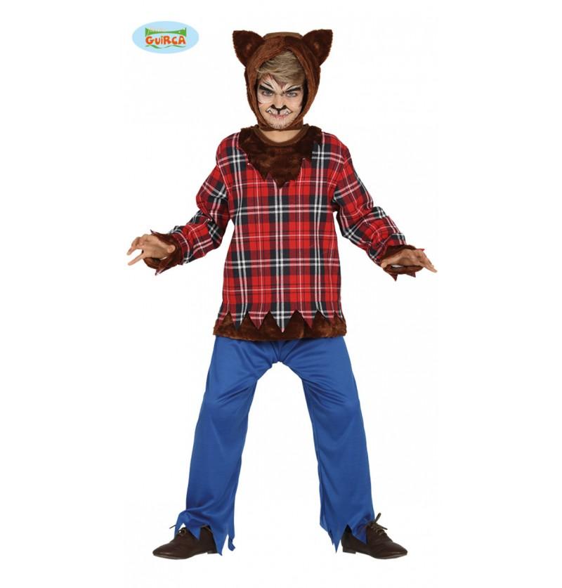 Disfraz de hombre lobo aterrador para niño