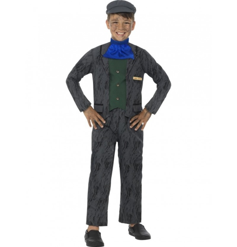 Disfraz de minero Horrible Histories para niño