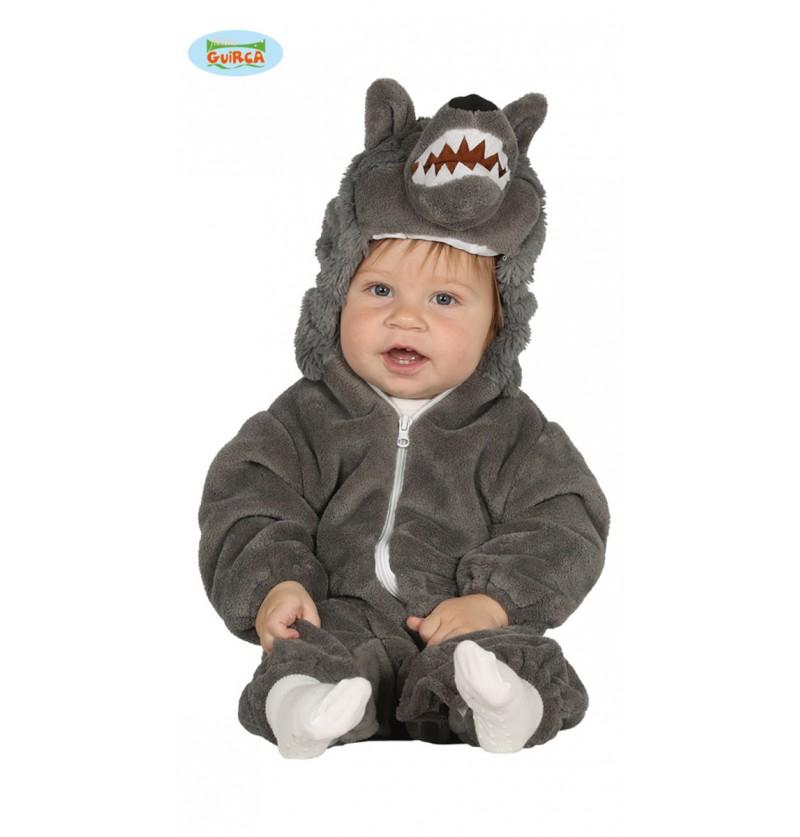 Disfraz de lobo gris para bebé