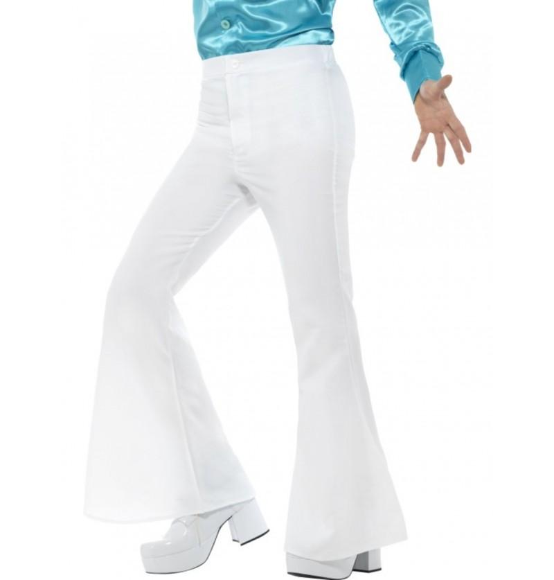 Pantalón de los años 70 blanco para hombre