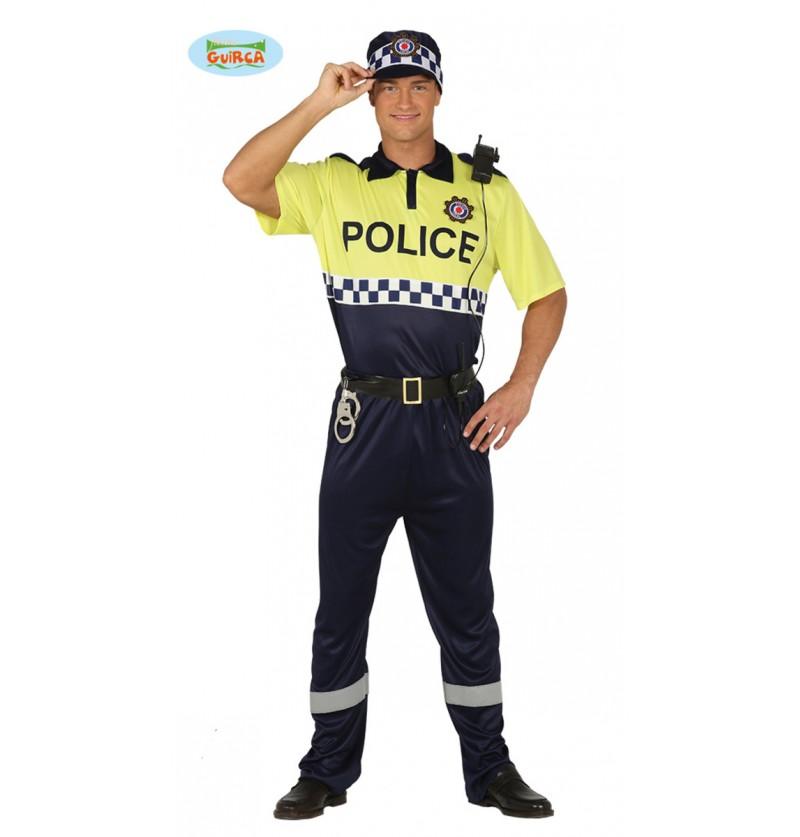Disfraz de policía local para adulto