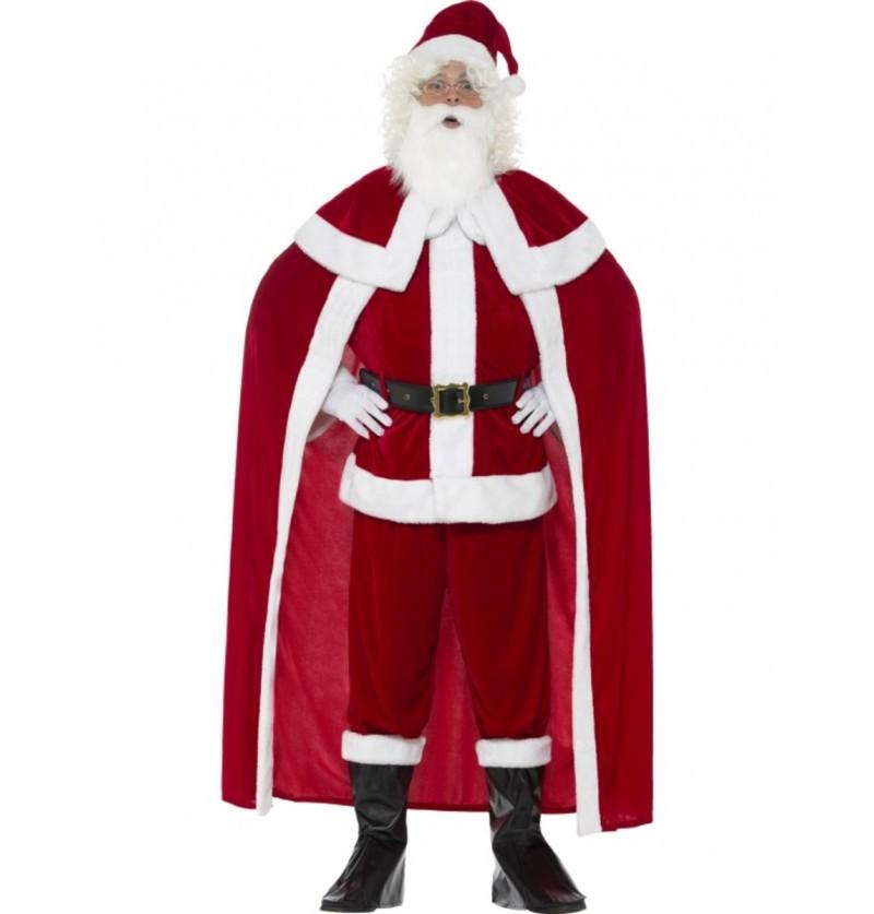 Disfraz de Papá Noel con capa para hombre