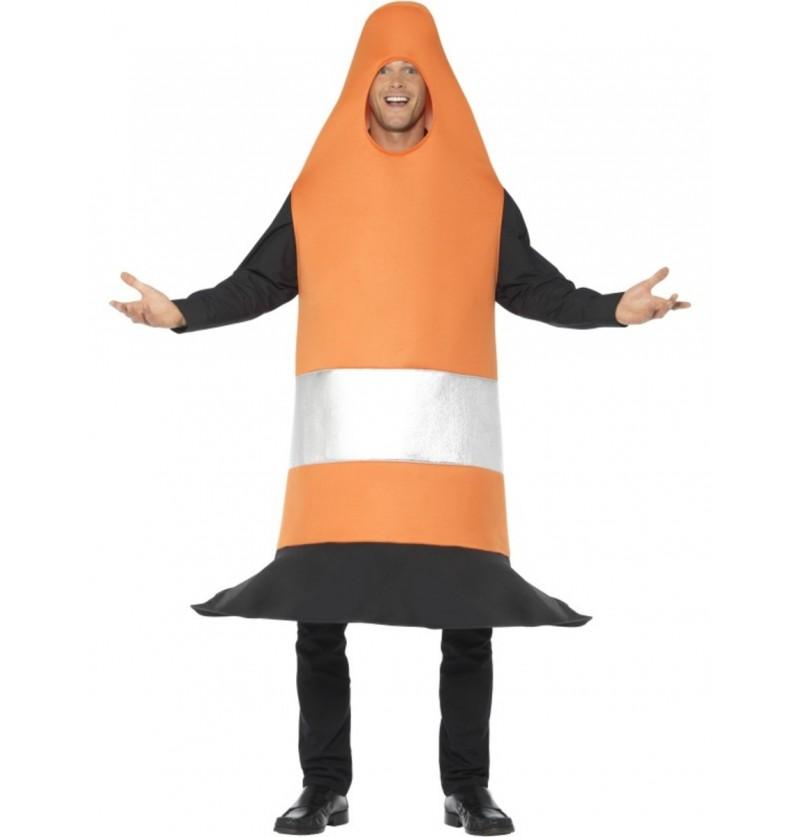 Disfraz de cono naranja para adulto