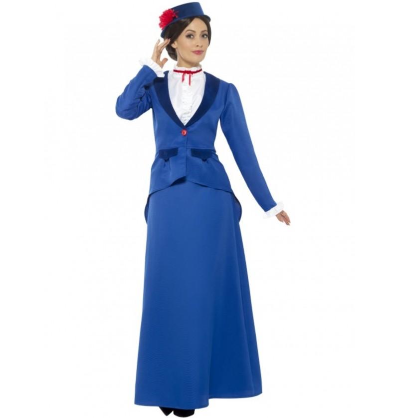 Disfraz de Super niñera victoriana para mujer