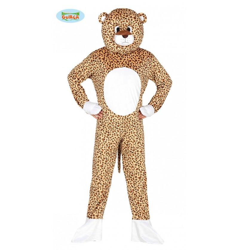 Disfraz de leopardo con cabeza para adulto