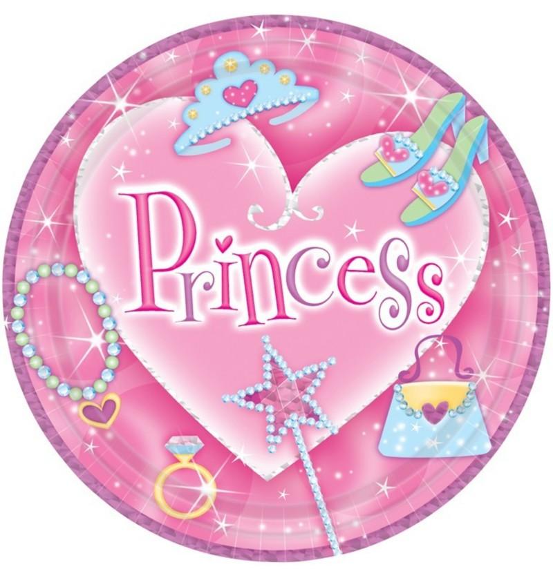 Set de 8 platos grandes Princess