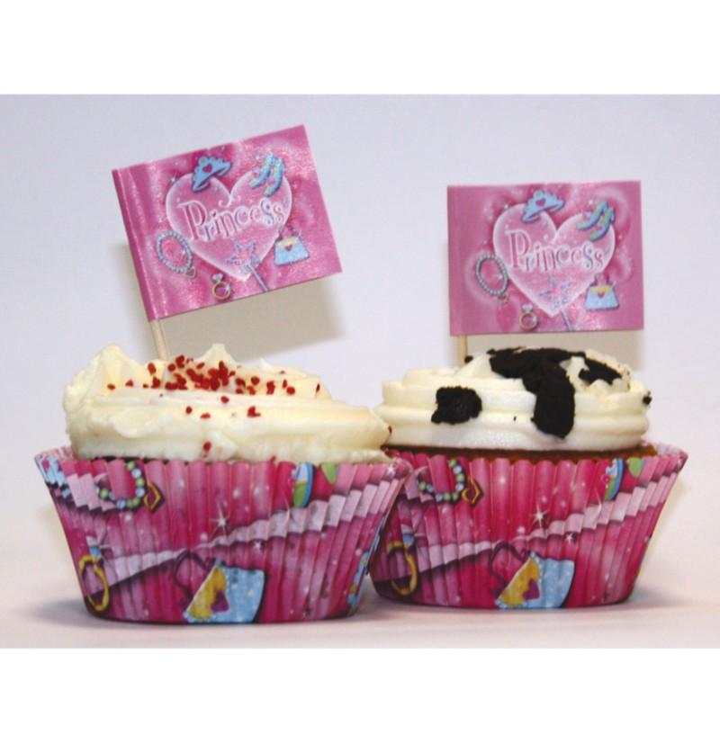 Set de 24 moldes cupcakes y adornos Princess