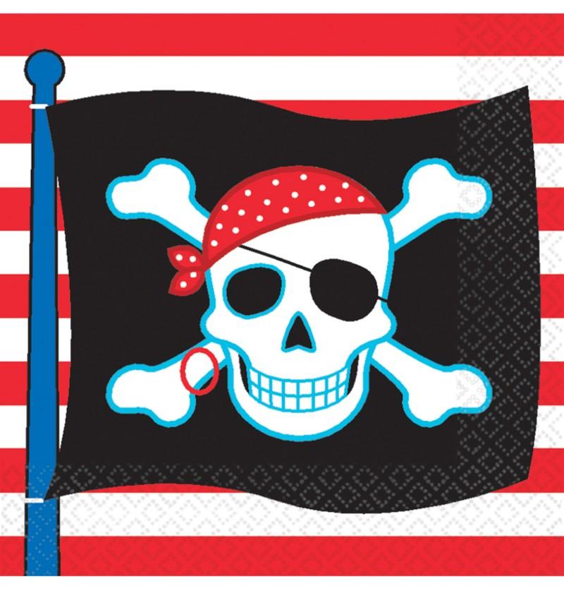 Set de 16 servilletas Pirate Party