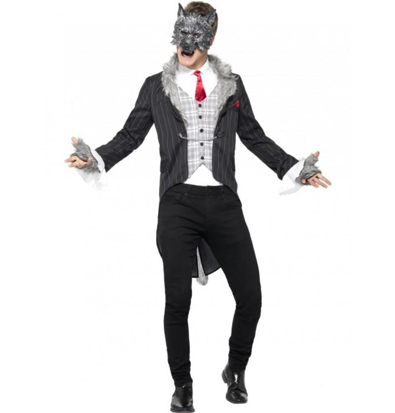 Disfraz de hombre lobo trajeado para hombre