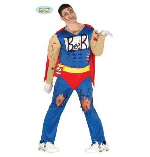 Disfraz de héroe de la cerveza zombie para hombre