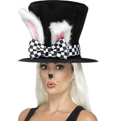 Sombrero de conejo de las maravillas para adulto