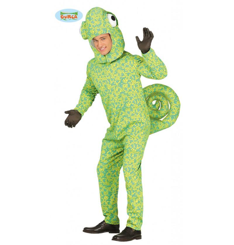 Disfraz de camaleón camuflado para adulto