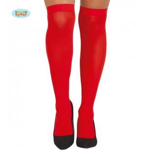 Medias rojas para mujer
