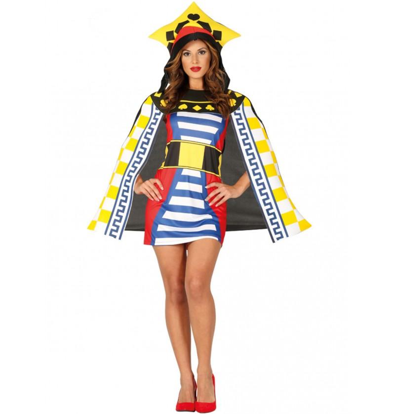 disfraz de reina de cartas para mujer