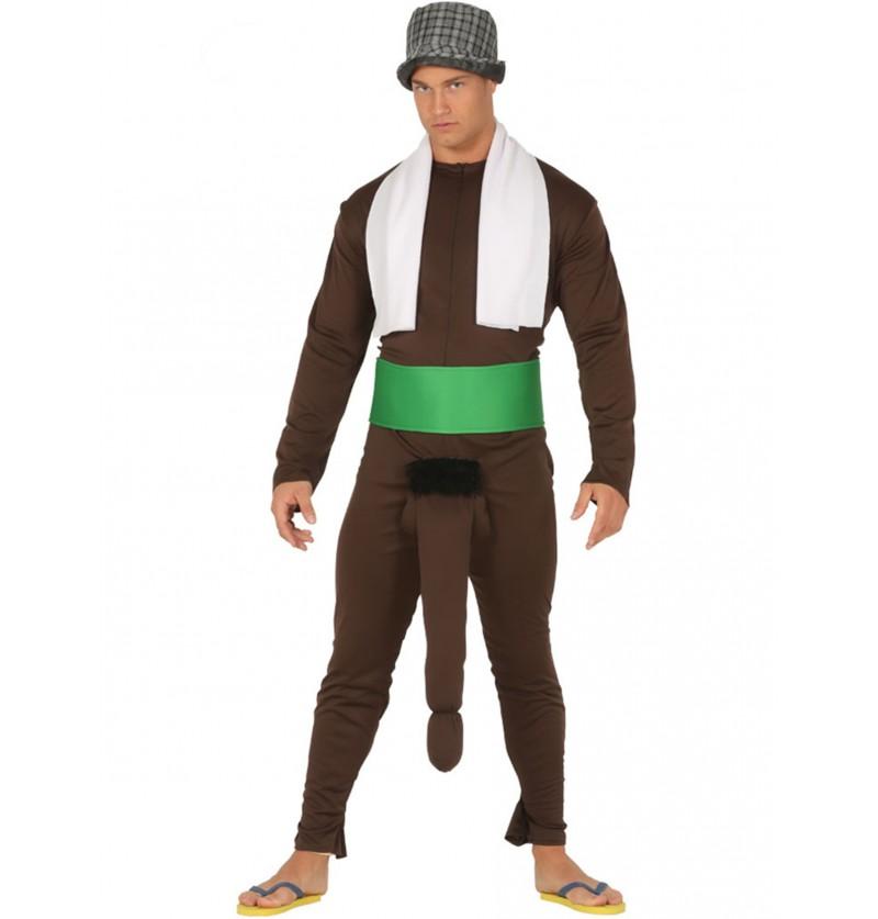disfraz de negritn mensajero con el mvil colgandero