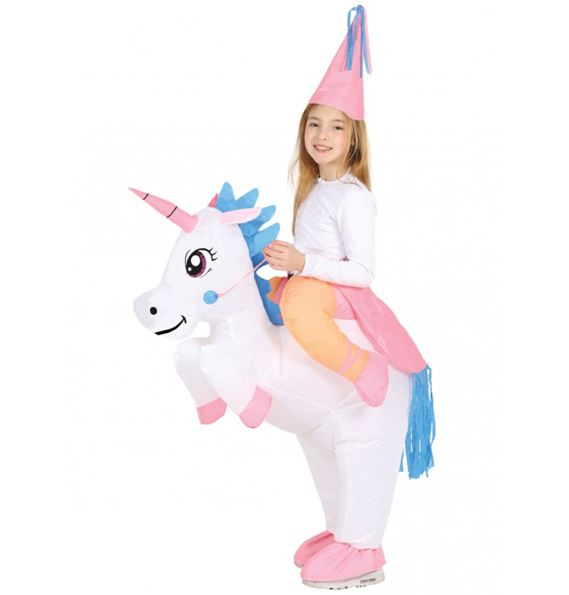 disfraz de unicornio ride on hinchable para nia