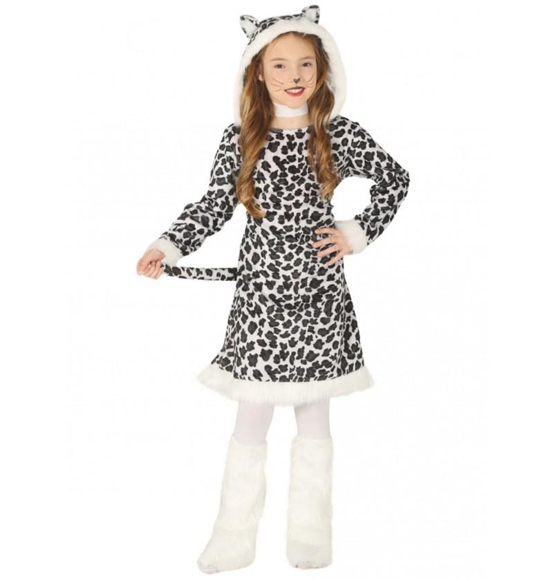 disfraz de leopardo blanco para nia