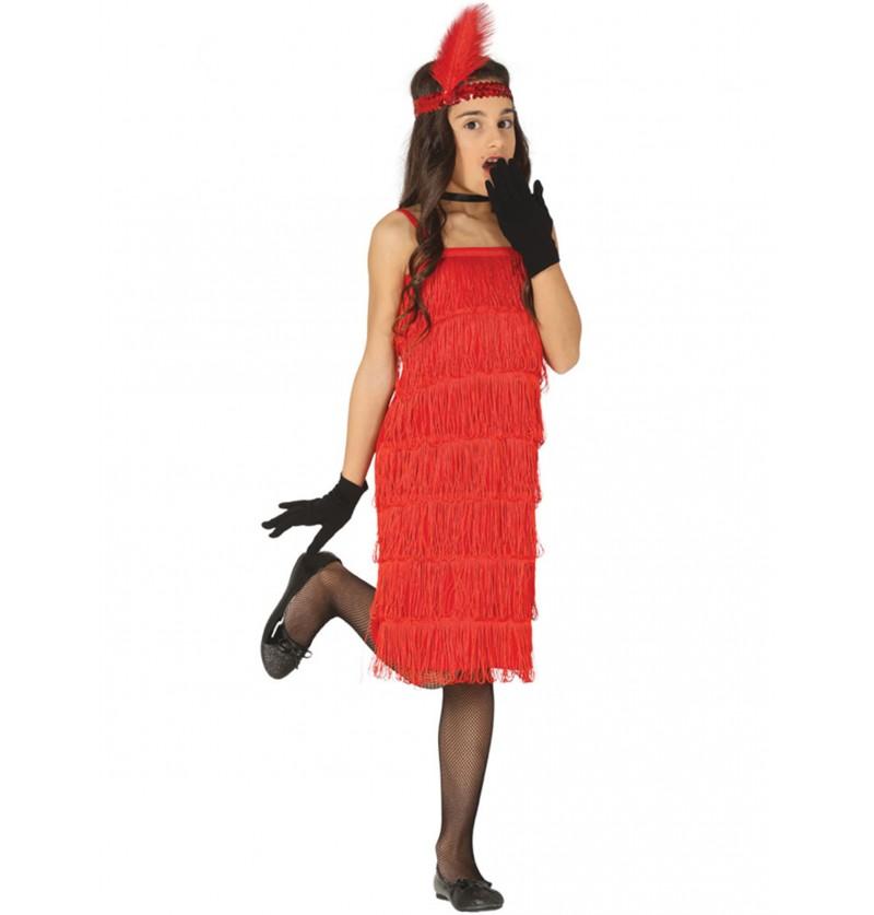 disfraz de charlestn rojo aos 20 para nia