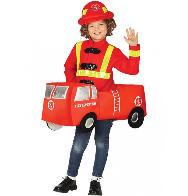 disfraz de bombero en camin infantil