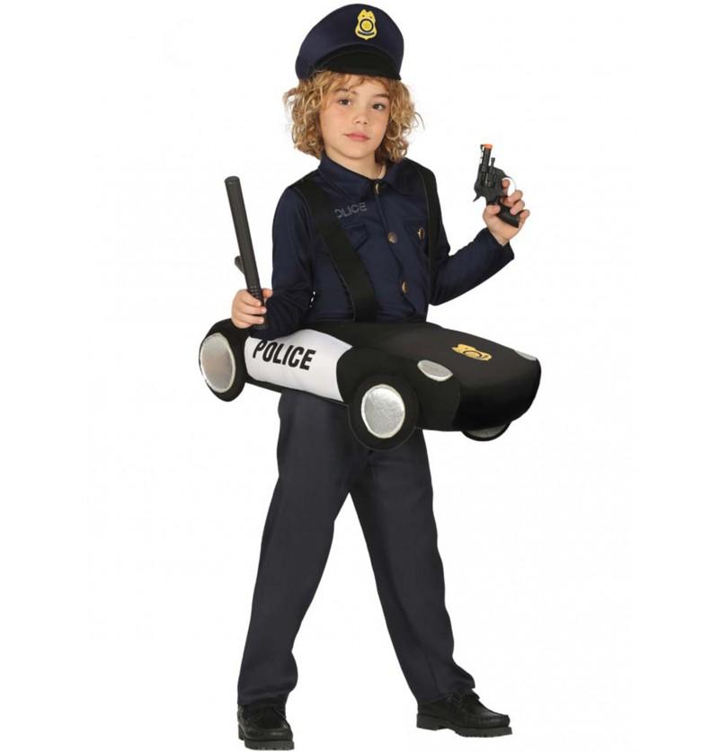 disfraz de polica en patrulla infantil