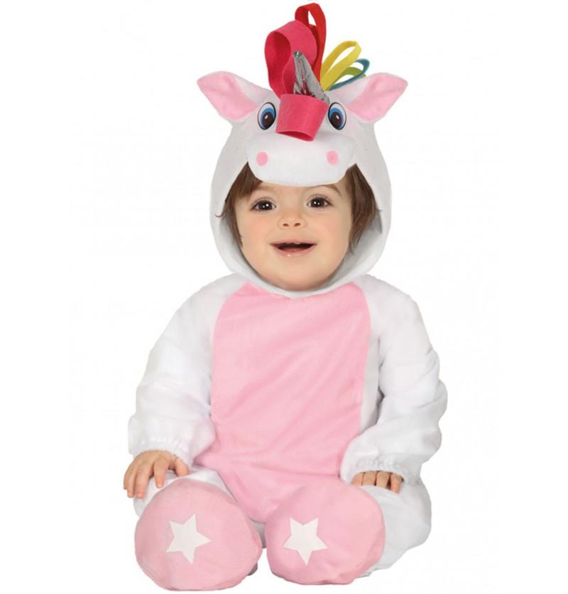 disfraz de unicornio rosa adorable para beb
