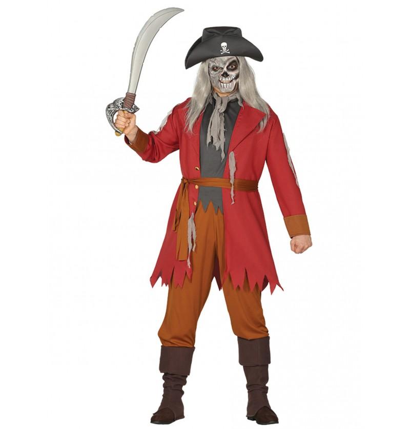 disfraz de pirata fantasma para hombre