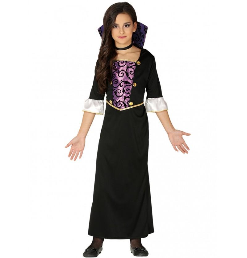 disfraz de vampiresa morada para nia