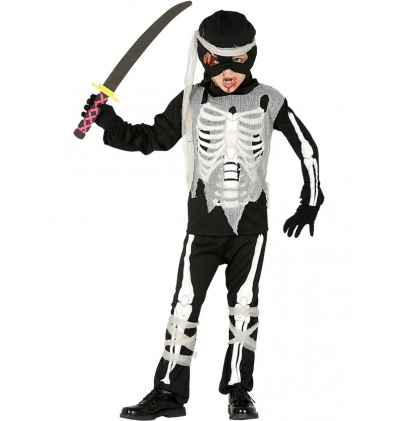 disfraz de ninja esqueleto para nio