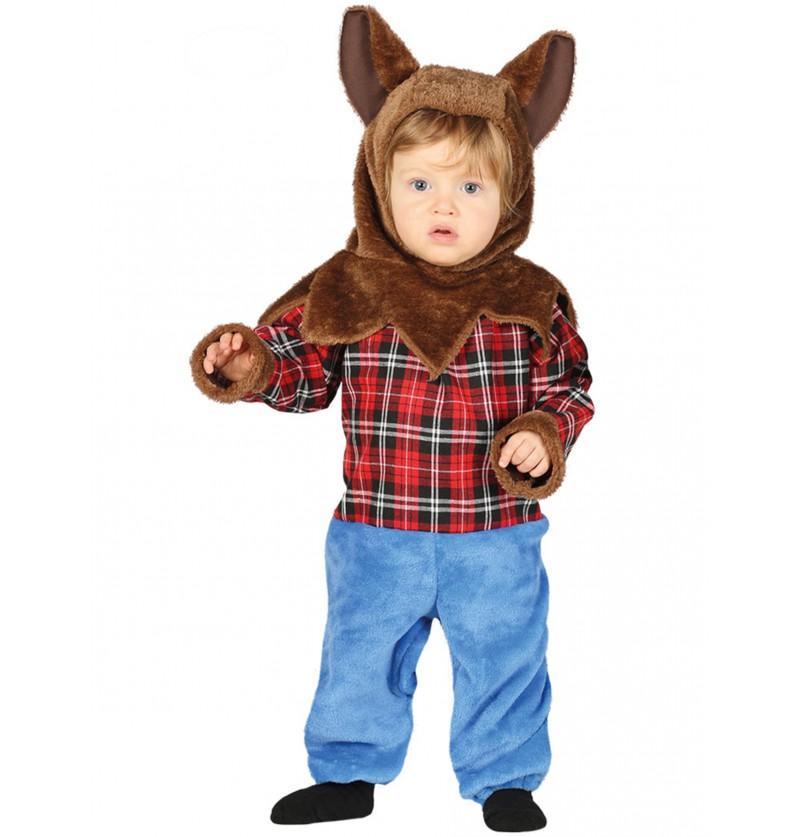 disfraz de hombre lobo peludo para beb