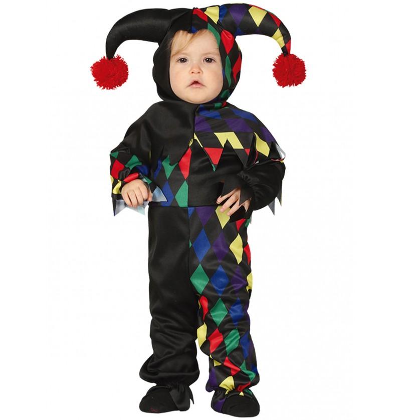 disfraz de arlequn negro para beb