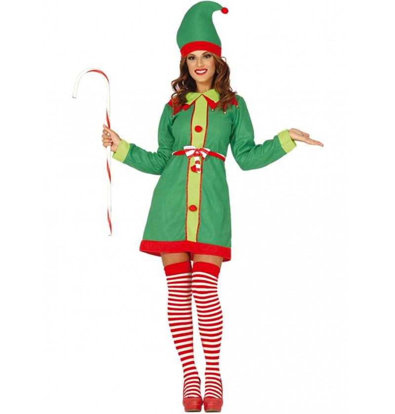 disfraz de elfo navideo verde para mujer